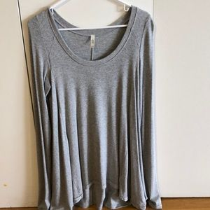 Free People Grey 'January Ribbed' Shirt, Small